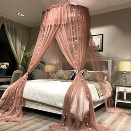 $enCountryForm.capitalKeyWord Australia - Princess Style Hung Dome Mosquito Net Round Lace Curtain for Home Textile Bed Canopy Crib Polyester Mesh Tent Girls