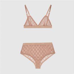 venda por atacado 2 cores Mulheres Bra Summer Set Últimas Senhora Letra Breve luxo presente de aniversário para a esposa Sexy Underwear