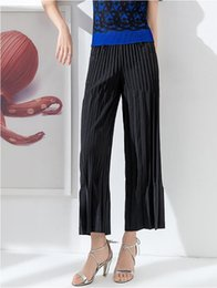 $enCountryForm.capitalKeyWord Australia - Pleated art wide leg pants female nine points loose new Miyake niche design hairy casual pants free shipping PY