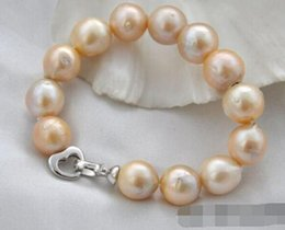 "Edison Chain Australia - FREE SHIPPING + + 8"" round pink Edison reborn pearl bracelet 925sterling silver"