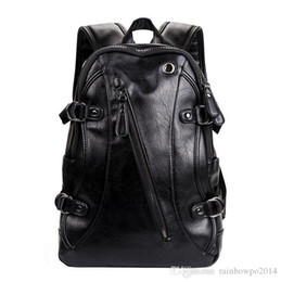 $enCountryForm.capitalKeyWord Australia - wholesale brand bag fashion upgrade PU leather leisure backpack trend double zipper Korean version backpack high quality leather travel bag