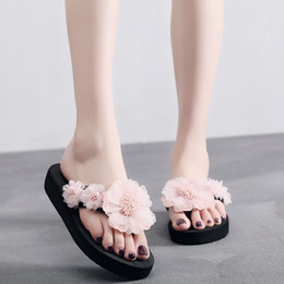 $enCountryForm.capitalKeyWord Australia - 2019 Summer Modern Lady Fashion Flip- flop Women Slip-on Open Toe Flower Wedges Color Soft Elegant Slipper Shoes for Women