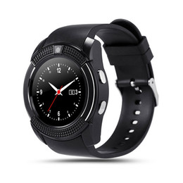 Wholesale smart watch sim card ios iphone resale online - V8 GPS Smart Watch Bluetooth Smart Touch Screen Wristwatch with Camera SIM Card Slot Waterproof Smart Bracelet for IOS Android iPhone Watch