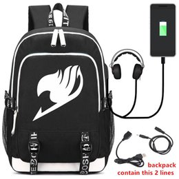 $enCountryForm.capitalKeyWord Australia - New Fashion Japan Fairy Tail Backpack with USB Charging Port and Lock &Headphone interface for College Student Work Men & Women