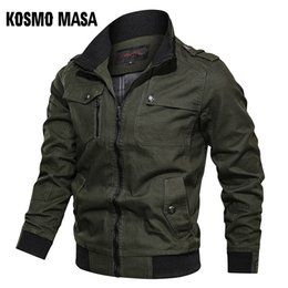 casual military clothing NZ - 's Clothing KOSMO MASA Cotton Bomber Jacket Windbreaker Army Military 2019 Spring Autumn Casual Men's Coats And Jackets For Men MJ0087