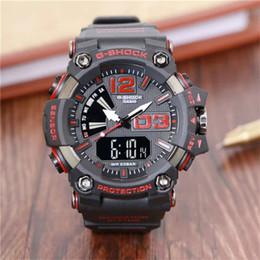 Men Digital Wrist Watches Australia - Men PRW Sports Electronic chronograph wristwatch ga 100 110 Men's g Watch Big Dial Digital waterproof LED male shock Wrist Watches g 001