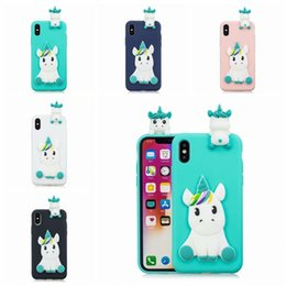 $enCountryForm.capitalKeyWord Australia - 3D Soft Silicone TPU Case For iPhone X XR XS Max Lovely Panda Cat Dog Unicorn Phone Cases For iPhone 8 7 6 6S Plus 5 5S Cover