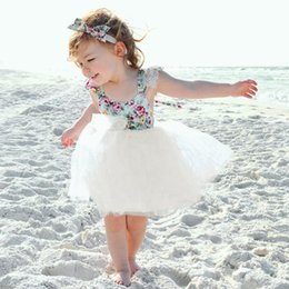 Hot Summer Baby Neonate Dress Ruffles Fiori Pizzo Patchwork Princess Dress Bambini Chidren Party Casual Abiti dolci 4868