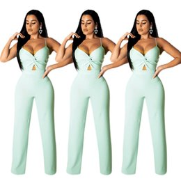 $enCountryForm.capitalKeyWord Australia - 2019 Trendy Women Jumpsuit Solid Color Vest Siamese Trousers Summer Autumn Women Fold Clothing Sleeveless Loose Overalls Leggings 6253