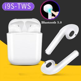 Gray phone case online shopping - I9s tws wireless bluetooth headphones ture stereo Earphones bluetooth Earbuds for IOS Android Phone with magnetic charger case