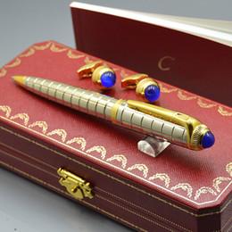 Gifts for Groomsmen online shopping - Best Christmas Gift Top Luxury Cartr Branding Ballpoint pen Men Shirt Cufflinks For Groomsman Wear Jewelry Cuff links with Original Box