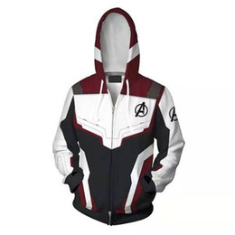 China Avengers 4 Endgame Quantum Realm 3D Print Hoodies Super hero hoodies Men women Zipper Sweatshirts Coat Cosplay Costume supplier super woman cosplay suppliers