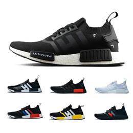 fashion sport nmd 2019 - 2019 designer shoes NMD R1 atmos Bred Running Shoes Tri-Color OG Classic Men Women Japan Black Triple Marble Fashion Spo