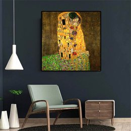 gustav klimt paintings NZ - Kiss Gustav Klimt -2,HD Canvas Printing New Home Decoration Art Painting (Unframed Framed)