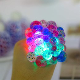 $enCountryForm.capitalKeyWord NZ - 6cm LED luminous Cute Anti Stress Face Reliever Grape Ball Autism Mood Squeeze Relief Healthy Toy Chameleon lamp Grape Decompression toys