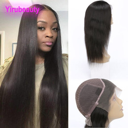 unprocessed hair wigs Australia - Peruvian Unprocessed Human Hair 13X4 Lace Front Wigs Natural Hairline Adjustable Silky Straight 8-30inch Virgin Hair Lace Wig Products
