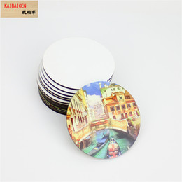 Bar Table Accessories Australia - Sublimation Blank Square Round Heart Coaster Dining Table MDF Wooden Placemat Kitchen Accessories Mat Cup Bar Mug Drink Pads