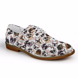 casual shoe brands for men 2019 - Customized Oxfords Shoes for Men Casual Brand Designer Cute Animal Pug Dog Flats Men's Leather Oxford Shoes Zapatos