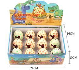 Wholesale Hatching Eggs Toys Australia - Dinosaur Egg 5*7cm Larger Inflatable Magic Hatching Dinosaur Add Water Growing Dino Eggs Kid Toy
