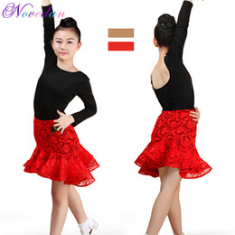 Latin Dancing Suit Australia - Girls Children Ruffle Latin Dance Skirt Suits Kids Dance Leotard & Skirt Sets Latin Sequined Ballroom Party Competition Costumes