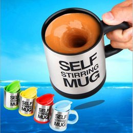 self stirring mugs Australia - 5 Color Automatic Coffee Mixing Cup 350ml Stainless Steel Self Stirring Electric Coffee Mug Thermocup Thermomug 1pc