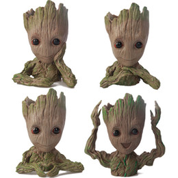 China Baby Groot Flowerpot Flower Pot Planter Action Figures Guardians of The Galaxy Toy Tree Man Cute Model Toy Pen Pot Tree Man cheap south korea pen suppliers