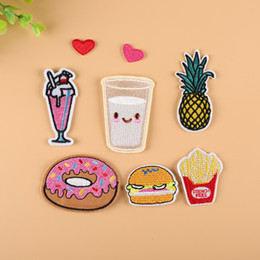 $enCountryForm.capitalKeyWord Australia - embroidery donut patches for jackets,embroidered food badges heart appliques for jeans,juice patches for clothing A803