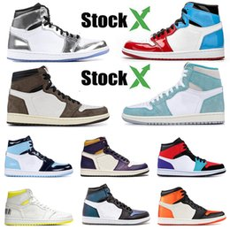 cheap purple shoes for men Canada - cheap sale for women mens basketball shoes 1s travis scotts fearless kawhi leonard turbo green satin shattered backboard men sneaker 36-47