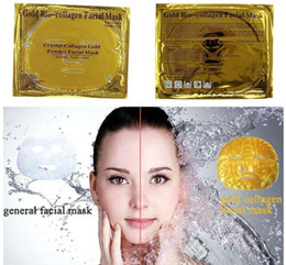 bio products Canada - Gold Bio Collagen Facial Mask Face Mask Crystal Gold Powder Collagen Facial Mask Sheets Moisturizing Anti-aging Beauty Skin Care Products