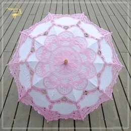 $enCountryForm.capitalKeyWord NZ - Chinese Handmade Lace Sun Umbrella Parasol Embroidery Wedding Umbrella Decoration For Bridal Umbrella Ombrelle Mariage