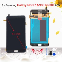 "Note Digitizer Lcd Screen Display Australia - 5.7""AMOLED LCD For Samsung Galaxy Note7 Note 7 FE N930 N930F LCD Display touch screen digitizer Assembly For Samsung Note 7"