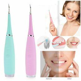 Großhandel Electric Sonic Oral Dental Calculus Remover Scaler Cleaner Zahnflecken Tartar Shock Beauty Whiten Zähne Ladewerkzeug