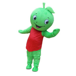 $enCountryForm.capitalKeyWord Australia - 2019 High quality hot Fruit Mascot Little Green Apple Mascot Costume Halloween Birthday Party anime Adult Size Free Shipping