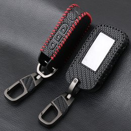 $enCountryForm.capitalKeyWord Australia - Carbon Fiber Style Leather A93 Car Key Case for Starline A39 A63 Two Way Car Alarm Remote Controller LCD Transmitter KeyChain