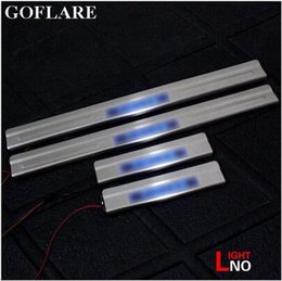 stainless car door sill Australia - Car Styling led auto door sill for Volkswagen Tiguan B7 accessories 2009-2017 illuminated door sills scuff plates thresholds stainless steel
