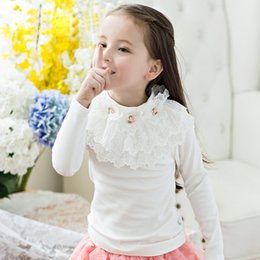 BaBy girl sweater knitting patterns online shopping - Kids Sweater Knitting Patterns Autumn Spring Baby Girls Pullover Lace O neck Children Sweater Jacket DQ238