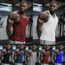 hot mens tank tops NZ - Gym Hot Mens Clothing Stringer Bodybuilding Tank Top Muscle Vest Shirt Size S-XL