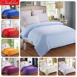 $enCountryForm.capitalKeyWord Australia - 1 piece Duvet Cover Plain Pure Color Soft Cotton Bedding Bag Blue Adult Kids Girl Quilt Comforter Case 150*200 180*200cm