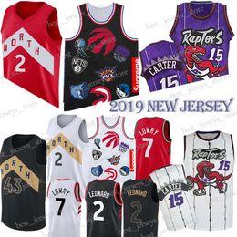 6c5f2b251f6 15 Carter Toronto Kyle 7 Lowry Basketball jerseys Kawhi 2 Leonard Raptors  Hot Sale 18 19 New 100% Stitched Jersey MEN