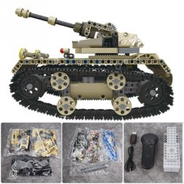 radio times NZ - Building Blocks DIY Car Assemble Toy RC Military Car Truck Tank RC Model 4 Channels 2.4GHz Remote Control 40min Playing Time