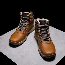 Fans Work Australia - Men's Xl Spring And Autumn Waterproof Wear-resistant Fan Leisure Hiking Shoes High-top Leather Skid Casual Shoes Snow Boots Large Size 39-48