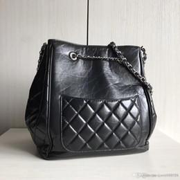 $enCountryForm.capitalKeyWord NZ - 2018 new Fashion ladies Crossbody Women genuine Leather lambskin Bucket Bag Handbag Casual Scarf hand highest quality Shoulder Messenger Bag