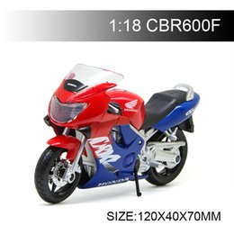 Motor Bicycles Australia - 1:18 Motorcycle Models CBR600F CBR 600F Red&Blue Model bike Alloy Motorcycle Model Motor Bike Miniature Race Toy For Gift Collectio