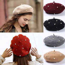 9657a8ab Plain Beret Hat Wool Autumn Women Girls Vintage Fashion Hats French Beret  Winter Warm