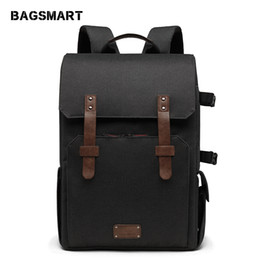 "Dslr Cameras Bags Australia - heap Backpacks BAGSMART Multifunctional Camera Backpack for SLR DSLR Cameras 15.6"" Laptop Camera Bag with Waterproof Rain cover Tripod Mo..."