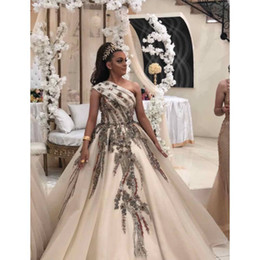 luxurious one shoulder dress Australia - 2019 Aso Ebi Arabic Luxurious Sexy Evening Dresses One Shoulder Beaded Crystals Prom Dresses Ball Gown Formal Party Pageant Gowns ZJ455
