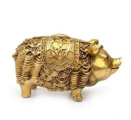 $enCountryForm.capitalKeyWord UK - Crafts Copper Bronze Brass Feng Shui Home Decoration lucky money pig copper jewelry gifts crafts talisman office decoratioN