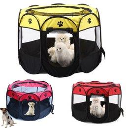 $enCountryForm.capitalKeyWord UK - New Convenietn Pet Dog Cat Tent Playpen Exercise Play Pen Soft Fence Cage Kennel Crate Folding Pet Playpen