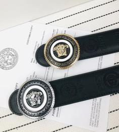 $enCountryForm.capitalKeyWord NZ - 2018 High Qualtiy Mens Woman Brand Belts Alloy Smooth Buckle high qualtiy Genuine Leather Belts For women Waist Belt Without Box A-445