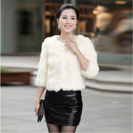$enCountryForm.capitalKeyWord Canada - Clobee Women Faux Fur Coat 2019 Eelgant Women Winter Wear Faux Fur Jackets Party Wear 3 4 Sleeve Short Rabbit Jackets J373